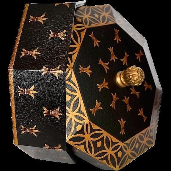 Black Gold Octagon Shaped Decorative Box
