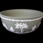 Wedgwood Bisque Jasperware Bowl Classic Greek Style Decorative Appliqué - Red Tag Sale Item