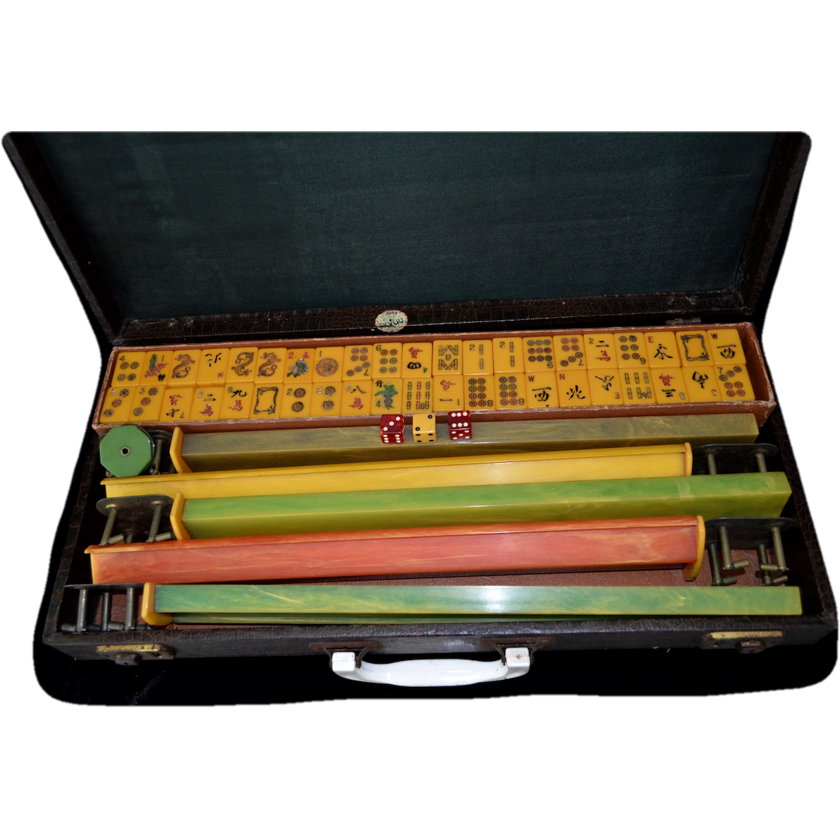 ROYAL DEPTH Bakelite Mah Jong Travel Games 1950's
