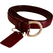 Vintage Burgundy COACH Leather Ladies Fashion Belt