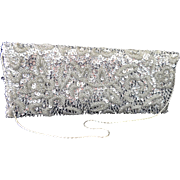 Vintage Badgley Mischka Ornate Crystal Sequin Evening Bag