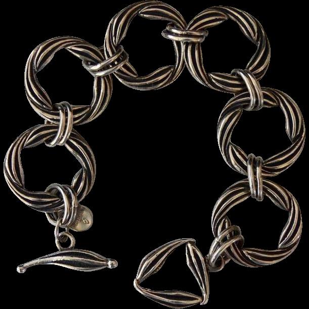 Quality Designer Sterling Silver Rope Link Bracelet
