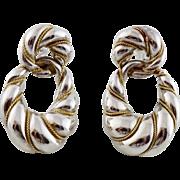 Tiffany & Co 18K Gold Sterling Silver Braided Drop Earrings