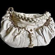 Bone Color Gianni Bini Leather Sachel Handbag