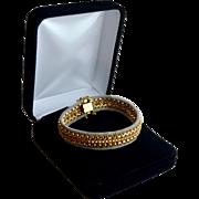 Estate Brevetto Italian Tri-Gold Woven Mesh Bracelet