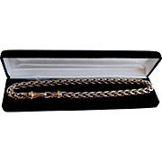 Classic 1990's Yurman Byzantine Chunky Style 14K Gold Accent necklace