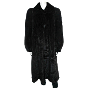 Designer Mary McFadden Full Length Black Brown Mink Coat