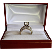 Estate Old European Cut 1.65 Carat Diamond Wedding Ring 14K Gold