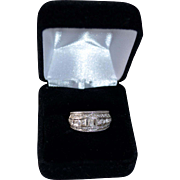 18K Gold White Anniversary Channel Set Anniversary Ring
