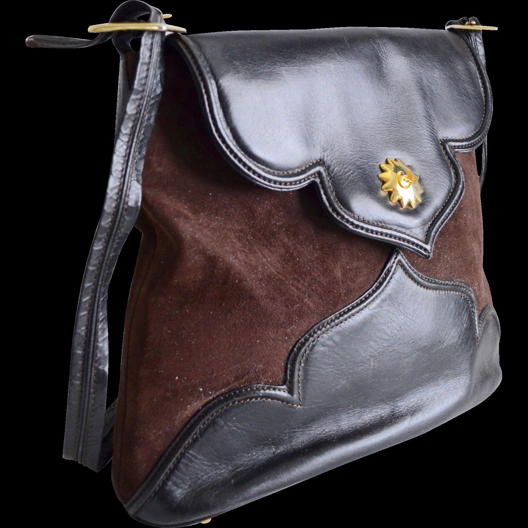 Christian Lacroix Calfskin Leather / Suede Tote Handbag