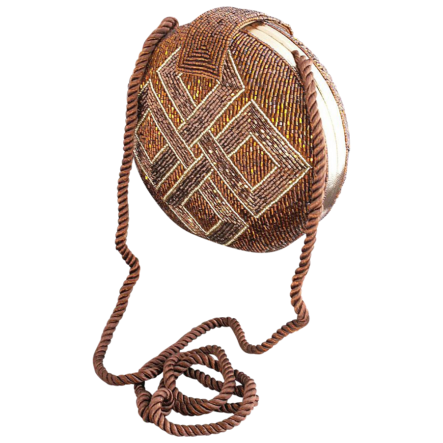 Mary McFadden Clam Shell Style Beaded Evening Bag