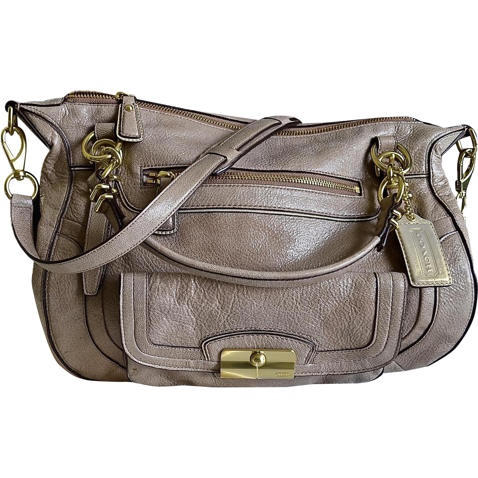 Coach Kristin Travel Computer Leather Luggage Tote Handbag