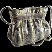 W.A. Thompson Snakeskin Leather Cross-over Handbag or Clutch NY Paris