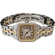 Ladies CARTIER Mini Panthere 18K Stainless Link Sports watch