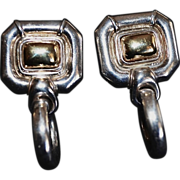 GUCCI Vintage Sterling Silver Door Knocker Earrings