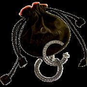 Designer J Hardy Sterling Silver Large Hoop Earrings