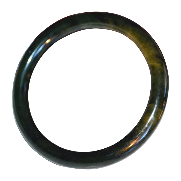 Asian Nephrite Spinach Jade Bangle Bracelet