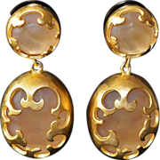 Karl Lagerfeld Runway 18kt GP Jumbo Drop Earrings