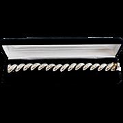 Chunky Italian Sterling Silver San Marco Link Bracelet