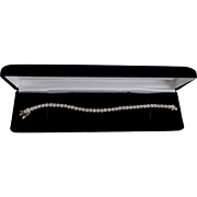 Sparkles Sterling Silver CZ Crystal Prong Set Tennis Bracelet