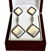 Diva Southwestern Modernist Sterling Duster Earrings