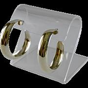 Jumbo Artisan Sterling Silver Wheel Turned Hoop Earrings