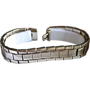 Heavy Modernist Sterling Silver Style Link Bracelet