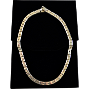 Mexican Sterling Silver Taxco Handcrafted Chunky Link Necklace