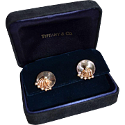 Estate Tiffany & Co 14K Gold Freshwater Pearl Trembler (Spin) Pierced Earring