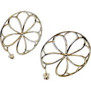 Flirty Tiffany Sterling Silver Pin-Wheel Pierced Earrings