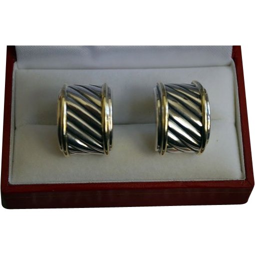 Iconic Classic Yurman Sterling Gold Cable Earrings