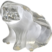 Dramatic Lalique Crystal Polar Bear Sculpture