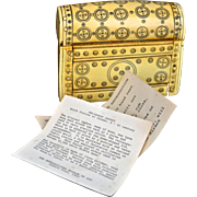 1965 Metropolitan Museum Art Italian / German Reliquary Casket