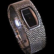 Elegant Nina Ricci Stainless Steel Mesh Bracelet Watch Paris, France