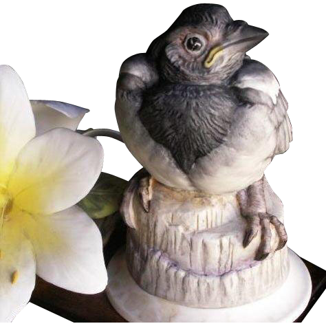 BOEHM Collection of Fine Porcelain Figurine Magpie Fledgling
