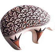 "Pottery Acoma Pueblo Figurative ""Bear"" New Mexico"