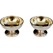 Vintage Tiffany & Co Sterling Open Footed Salt Cellars  (Pair)