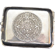 Vintage Sterling Taxco Mexico Cigarette Case