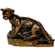 "Collectible  BANTHRICO INC Metalware ""Cat"" Coin Bank Circa 1950's"