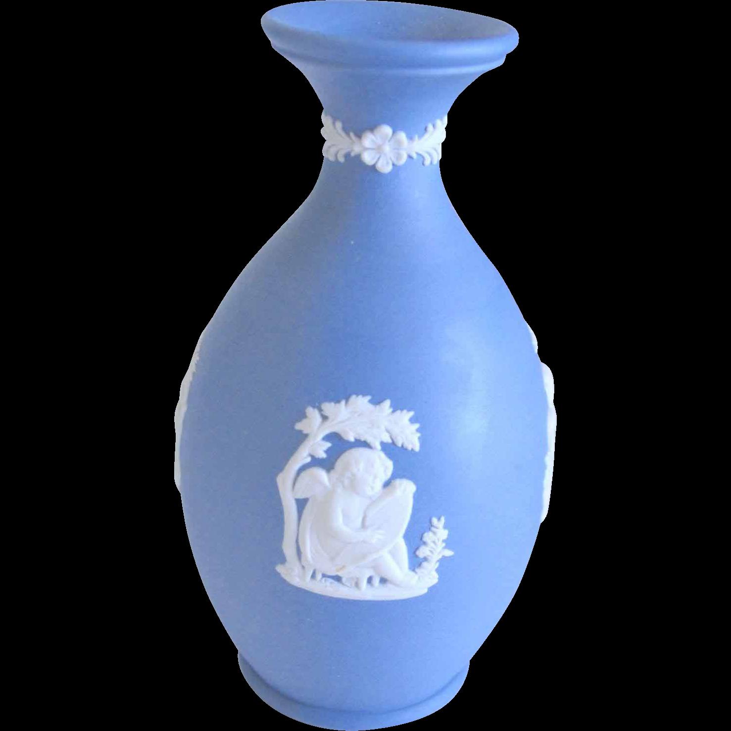 Wedgwood Jasper Ware Bisque Pottery Bud Vase