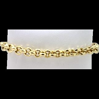 Estate 14KYG Italian Bracelet with Decorative Links