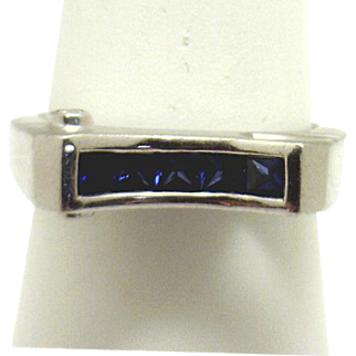 Fun & Funky! Platinum Ring with 1/2ctTW Nice Sapphires, from Liquidation!