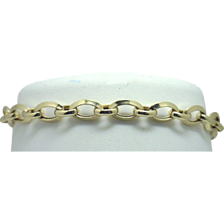 18KYG Oval Links Bracelet with (STRONG!) Magnetic Clasp From Liquidation