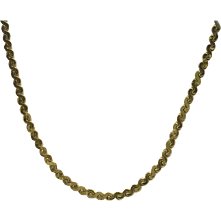 "14KYG 18"" Serpentine Style (Pendant) Chain, Estate (Excellent)"