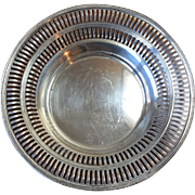 LOVELY Vintage Earlier 1900 s ~ 2oz. Sterling Silver Bowl with Pierced Edging