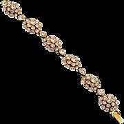 Bright dazzling rhinestone crystal link bracelet gold tone base