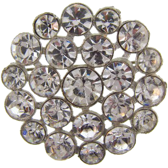 Vintage round crystal rhinestone Brooch