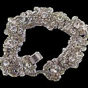 Gorgeous D & E Juliana 5 link crystal rhinestone bracelet