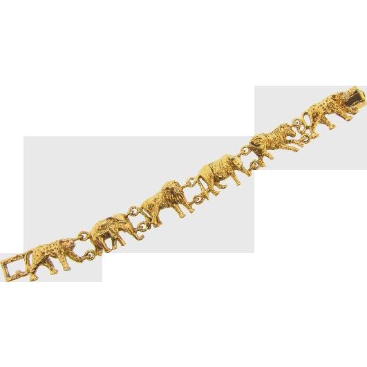 African animal themed vintage Bracelet