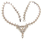 Gorgeous crystal rhinestone choker necklace with pendant drop center